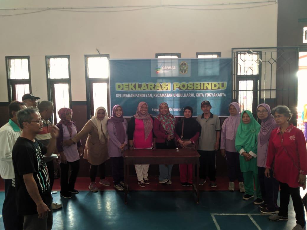 Deklarasi posbindu dan senam lansia di rw 04 Pandeyan